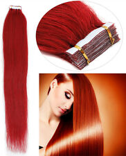 Seamless Tape In Skin Weft 100% Remy Human Hair Extensions 16Inch-24Inch 20Pcs