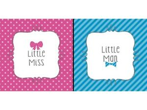 Bow or Bow Tie? Gender Reveal Party Paper Beverage Napkins  - 16 Count Package