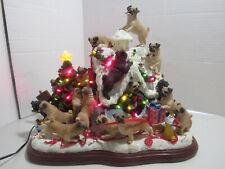 New ListingDanbury Mint Pug Christmas Doghouse w/Tree Star & Extra Bulbs Extremely Rare