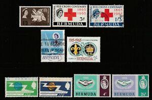 QEII BERMUDA 63/65 commems mainly superb nhm um