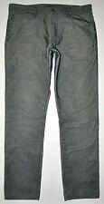 Gap 1969 Men's Skinny Dark Gray Corduroy Jeans Pants 36 X 34 Long EXCELLENT