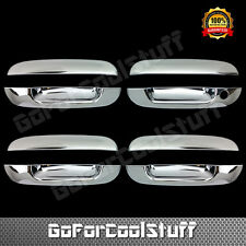 For Gmc Envoy 02-09 Chrome 4 Doors Handles Covers W/Out Passenger Keyhole