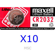 10 x Maxell Lithium Battery 3v CR2032 Batteries For Calculator Watch Ect.