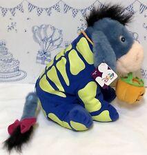 New Disney Store Winnie the Pooh EEYORE Halloween Skeleton Plush Doll Toy Glow N