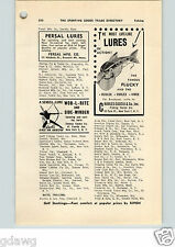1952 PAPER AD Charles Garcia & Co Plucky Persal Fishing Lure Lures Baits