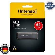 Intenso Alu Line USB Stick 2.0  Anthrazit NEU 8 32 64 GB Flash Drive Speicher