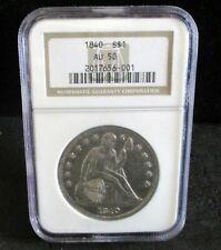 1840 Seated Liberty Silver Dollar - NGC AU 50 - 001   ENN COINS