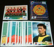 COREE SUD SOUTH KOREA TEAM COMPLETE PANINI FRANCE 98 COUPE MONDE FOOTBALL 1998