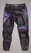 VINTAGE Pantalon CUIR Moto UVEX, Taille 40 ----- (PMH_036)