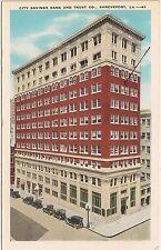 City Savings Bank and Trust Co. in Shreveport LA Postcard