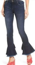 "Blank NYC ""Ruffle"" Dark Crop Capri Ankle Jeans 27 Sold OUT See No Evil Blue"