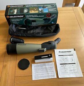 Celestron Ultima 100 Spotting Scope Model 52252. Hardly used