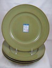 "Casafina CAFE CAPRI Fern Green 11 1/4"" DINNER PLATES Set/4 NEW w/tags"