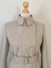 Stella Mc Cartney Designer Oatmeal Belted Trench Coat , Size M, Excellent