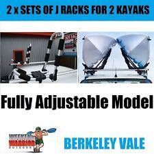 2 x Sets of Kayak J-Rack Adjustable Roof Rack Carrier Holder Universal Canoe