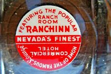Elko NV Commercial Hotel-Ranch Room-Ranchinn Casino Glass Ashtray c1950