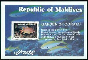 Maldive Islands Scott #900 MNH S/S Fish Sea life FAUNA CV$3+