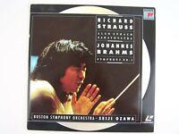 Richard Strauss: Also Sprach Zarathustra/Brahms: Symphony 1: Ozawa LD LaserDisc