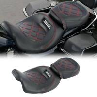 Red Stitching Driver Passenger Seat Fit For Harley Road King Classic FLHRC 09-20