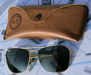 Occhiali da sole made in USA B&L Ray-Ban Caravan G15 58 16 vintage come nuovi