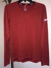 Men's Cold Weather Nike Dri Fit Wool Running Crew Long Sleeve Shirt Sz Small