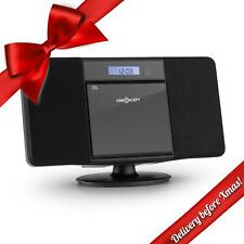 Bluetooth Stereo System Speakers CD Player Hi Fi Portable Radio USB Audio Black-