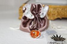 Orange Resin 925 Silver Angelique de Paris Ring size 6 NEW