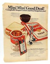Vintage 1968 CAMPBELLS Soup Magazine Ad Print w/ Coupon for Free Things w/purch