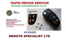 Jaguar X XJ S XK TYPE 4 Button Remote Key Fob Repair Refurbishment Service Fix