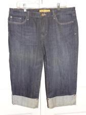 Women's SEVEN 7 Dark Denim Capri Cropped Jeans Pants Size 14