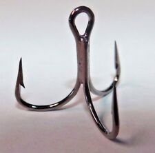 MUSTAD KVD 2X-SHORT 1X-STRONG TREBLE HOOKS BLACK NICKEL (20 PACK) SIZE 4