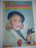 Lot N°75 de 10 magazines revues CINEMONDE année 1949