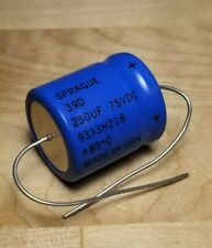 Sprague 39D158G075JT6 1500uF 75VDC 85C Powerlytic Axial Electrolytic Capacitor