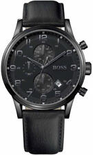 NEW HUGO BOSS 1512567 MENS BLACK AEROLINER WATCH - 2 YEAR WARRANTY