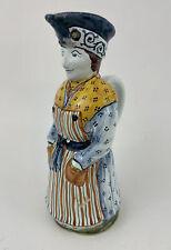 Faience Fait d'Art a. Rouen Augy Figural Pitcher France Pottery