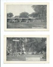2 COLORADO vintage Postcards DAD'S AUTO CAMP North La Junta OLD CARS photo cards