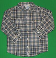 3t 3 Nwt Janie & Jack Glacier Frost Holiday Blue Plaid Shirt Top Boys