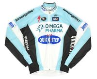 Mens Vermarc Omega Pharma Specialized Cycling Jacket Full Zip Blue Size L