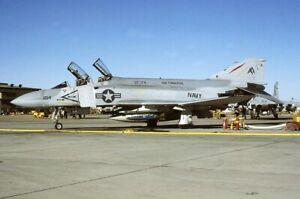 Original  colour slide   F-4J  157309/AA-104  VF-74  USS Forrestal  1982