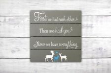 First We Had Each Other Nursery Wall Art | Woodland Nursery Wall Decor | Deer