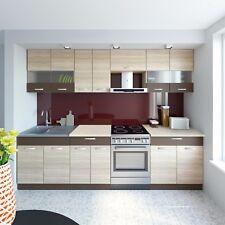 NEU Küche SEVILLA Braun 280 cm Küchenzeilen Einbauküche Küchenblock Küchenmöbel