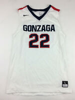 New Nike Gonzaga Bulldog Enforcer Jersey Men's L Basketball White #22 802300