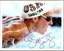 """Summer Sanders, Olympic Gold Medalist, Signed & Inscribed 10"""" x 8"""" Photo, COA"""