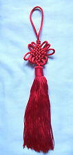 A Red Chinese Lucky Mobile Knot. Feng Shui Lucky Charm, Wall / Car Hanging