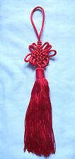 Rojo Chino Suerte móvil Knot. Feng Shui Amuleto De La Suerte, pared / Auto Colgante