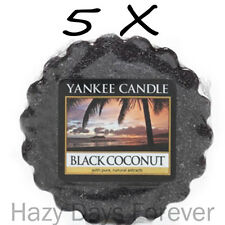 5 YANKEE CANDLE WAX TARTS MELTS SCENTED Black Coconut