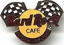 Hard Rock Cafe INDIANAPOLIS 1999 Race Racing Flags Over HRC Logo PIN #3665