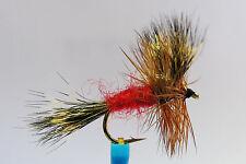 10 x Mouche Sèche Wulff Rouge H10/12/14/16 mosca fliegen fly truite trout