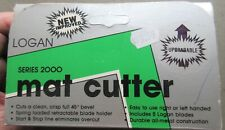 MAT CUTTER SERIES 2000 LOGAN-BOXED-NEVER USED COST $73.55 YEARS AGO-SPARE BLADES