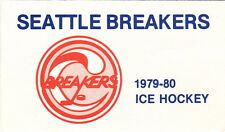 1979-80 SEATTLE BREAKERS HOCKEY POCKET SCHEDULE
